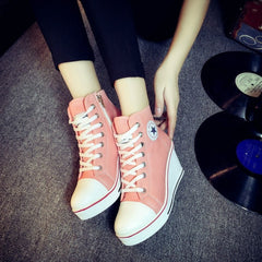 Korean Fashion - Shoes and Clothing - Platform Wedge Sneakers - Wedge Sneakers -  - Gangnam Styles - 5