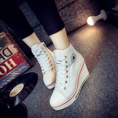 Korean Fashion - Shoes and Clothing - Platform Wedge Sneakers - Wedge Sneakers -  - Gangnam Styles - 2