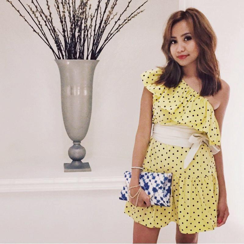Enigmatic Polkadot Dress Dress - Korean Fashion