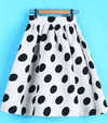 Vintage Polka Dot High Waist Skirt Skirt - Korean Fashion