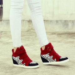 Korean Fashion - Shoes and Clothing - Leopard Wedge Sneakers - Shoes -  - Gangnam Styles - 2