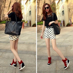 Korean Fashion - Shoes and Clothing - Leopard Wedge Sneakers - Shoes -  - Gangnam Styles - 4