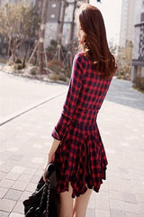 Korean Fashion - Shoes and Clothing - Red Ruffle Dress - Dress -  - Gangnam Styles - 4