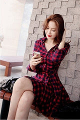 Korean Fashion - Shoes and Clothing - Red Ruffle Dress - Dress -  - Gangnam Styles - 5
