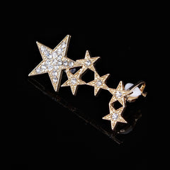 Korean Fashion - Shoes and Clothing - Star Stud Earrings - Necklace - Gold - Gangnam Styles - 3