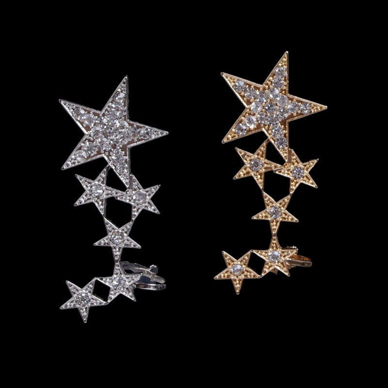 Star Stud Earrings Jewelery - Korean Fashion