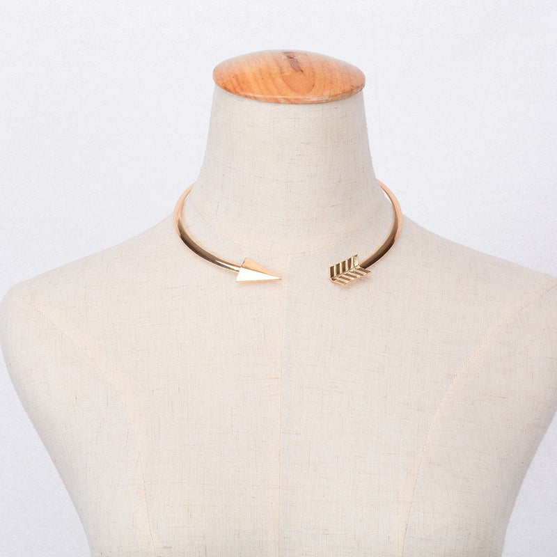 Arrow Choker Necklace Jewelery - Korean Fashion