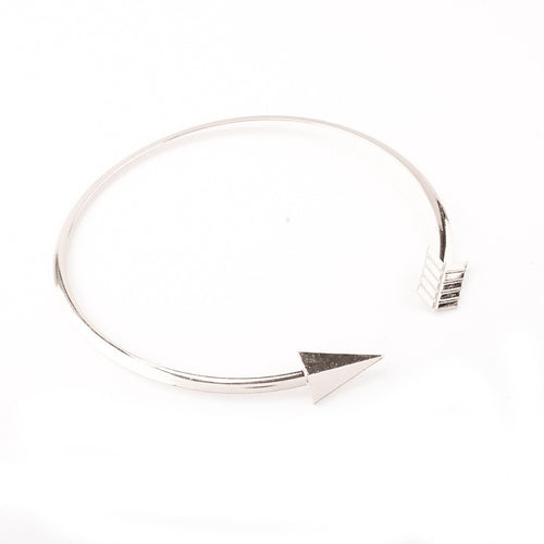 Korean Fashion - Shoes and Clothing - Arrow Choker Necklace - Necklace - Silver - Gangnam Styles - 2