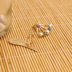 Korean Fashion - Shoes and Clothing - Gold Wing Stud Earrings - Necklace -  - Gangnam Styles - 3