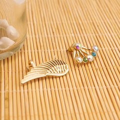 Korean Fashion - Shoes and Clothing - Gold Wing Stud Earrings - Necklace -  - Gangnam Styles - 4
