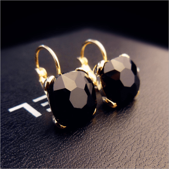 Diamond Drop Earrings Jewelery - Korean Fashion
