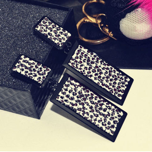 Leopard Chandelier Earrings Jewelery - Korean Fashion