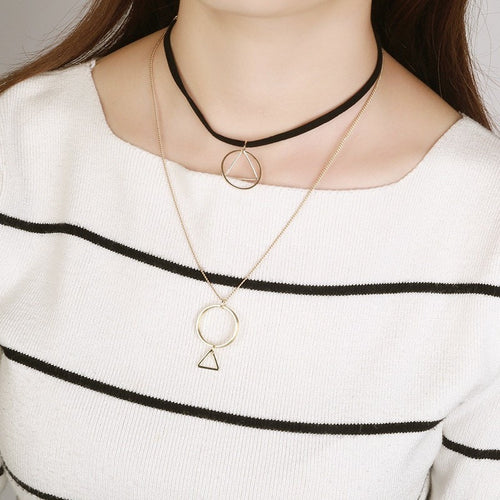 Korean Fashion - Shoes and Clothing - Gothic Triangle Collar Necklace - Necklace -  - Gangnam Styles - 1