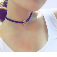 Korean Fashion - Shoes and Clothing - Ring Choker Necklace - Necklace -  - Gangnam Styles - 4