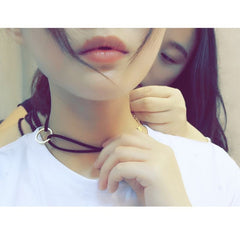 Korean Fashion - Shoes and Clothing - Ring Choker Necklace - Necklace -  - Gangnam Styles - 5