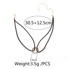 Korean Fashion - Shoes and Clothing - Ring Choker Necklace - Necklace -  - Gangnam Styles - 7