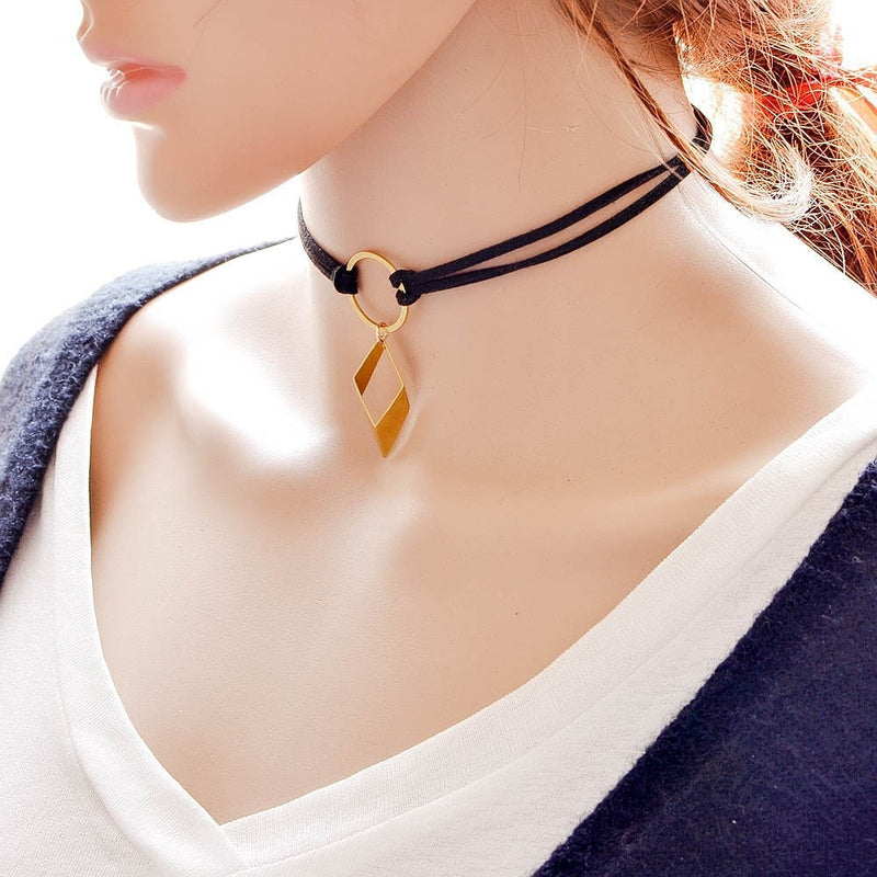 Velvet Tattoo Choker Necklace Jewelery - Korean Fashion
