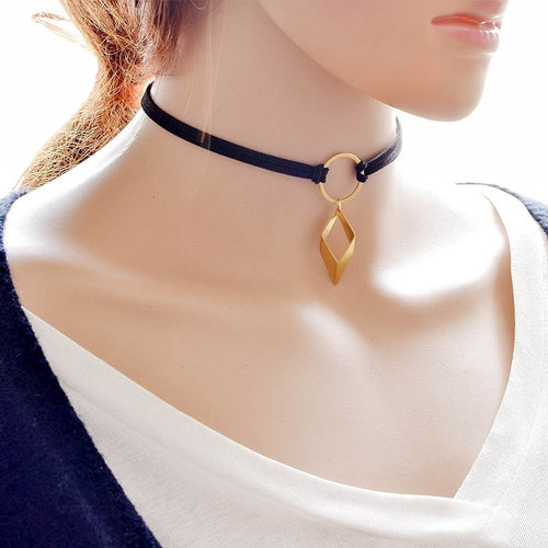 Velvet Tattoo Choker Necklace Necklace - Korean Fashion