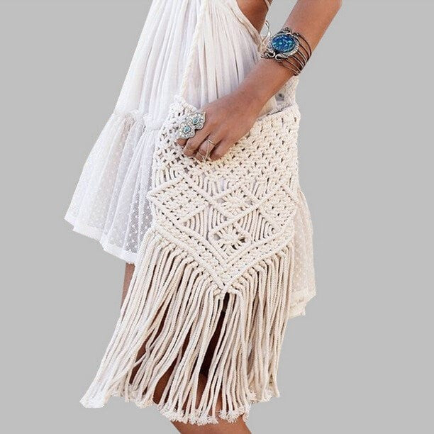 Gypsy Tassel Beach Bag Accessories - Korean Fashion