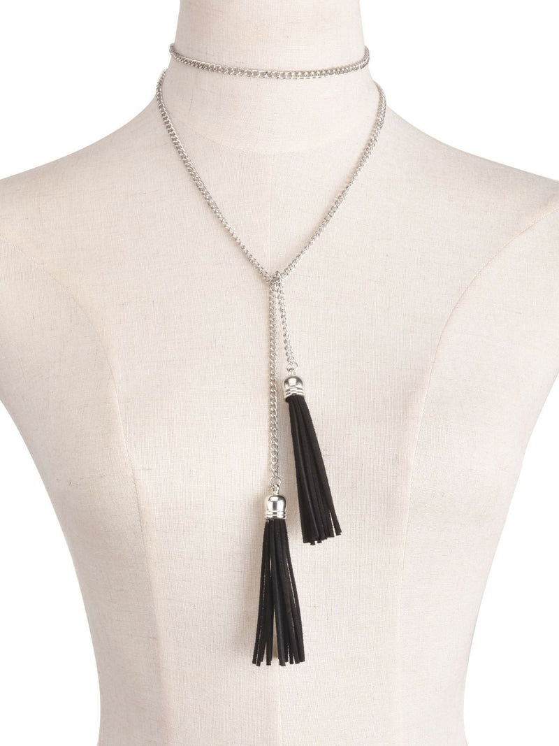 Hanging  Tassel Chain Necklace Jewelery - Korean Fashion