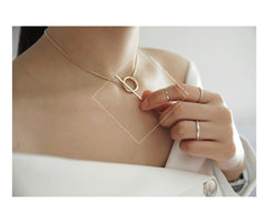 Korean Fashion - Shoes and Clothing - Bar Ring Choker Necklace - Necklace -  - Gangnam Styles - 2