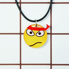 Korean Fashion - Shoes and Clothing - Cartoon Emoji Charm Necklace - Necklace - Ninja - Gangnam Styles - 23