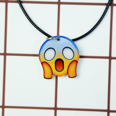 Korean Fashion - Shoes and Clothing - Cartoon Emoji Charm Necklace - Necklace - Shocked - Gangnam Styles - 25