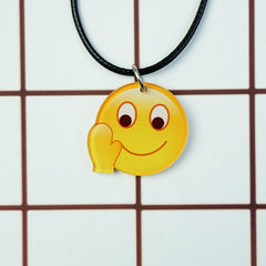 Korean Fashion - Shoes and Clothing - Cartoon Emoji Charm Necklace - Necklace - Waive - Gangnam Styles - 24