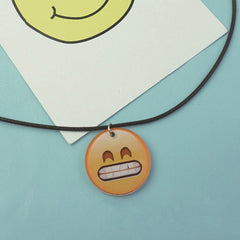 Korean Fashion - Shoes and Clothing - Cartoon Emoji Charm Necklace - Necklace - Grin - Gangnam Styles - 7