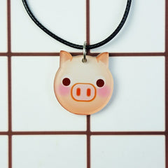 Korean Fashion - Shoes and Clothing - Cartoon Emoji Charm Necklace - Necklace - Pig - Gangnam Styles - 22
