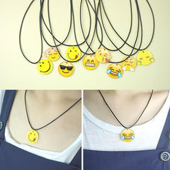 Korean Fashion - Shoes and Clothing - Cartoon Emoji Charm Necklace - Necklace -  - Gangnam Styles - 1