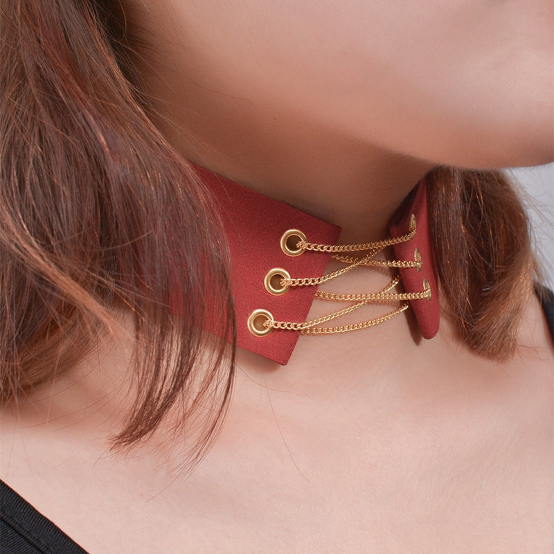 Tie Up Collar Choker Necklace Jewelery - Korean Fashion