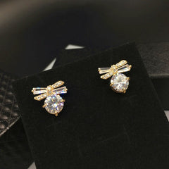 Korean Fashion - Shoes and Clothing - Bow and Pearl Stud Earrings - Necklace -  - Gangnam Styles - 4