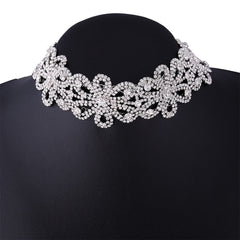 Korean Fashion - Shoes and Clothing - Crystal Flower Choker Necklace - Necklace -  - Gangnam Styles - 5