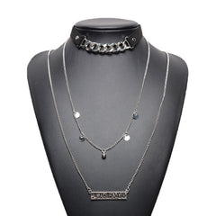 Korean Fashion - Shoes and Clothing - Always Forever Pendant Choker Necklace - Necklace -  - Gangnam Styles - 2