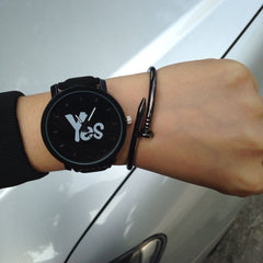 Yes / No Couples Watch Pair Watch - Korean Fashion