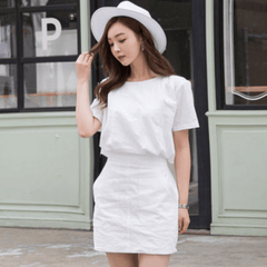 Korean Fashion - Shoes and Clothing - Butterfly Semi Formal Dress - Dress - Free Size / Ivory - Gangnam Styles - 1
