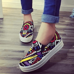 Korean Fashion - Shoes and Clothing - Printed Pattern Loafers - Shoes -  - Gangnam Styles - 1