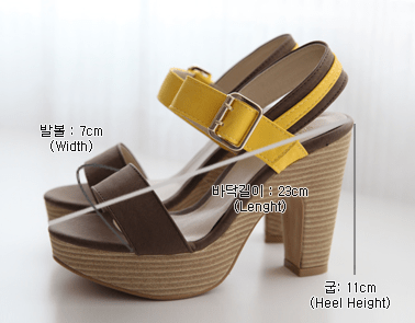 Chunky Strap Heels Women's Shoes - Korean Fashion