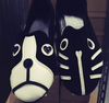 Velvet Dog & Cat Flat Shoes Women's Shoes - Korean Fashion