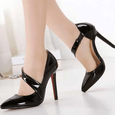 Korean Fashion - Shoes and Clothing - Stiletto Heels - Shoes - 39 / Black - Gangnam Styles - 1