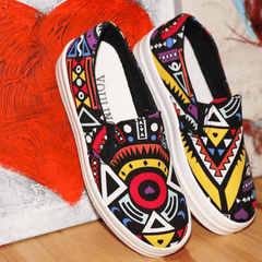 Korean Fashion - Shoes and Clothing - Printed Pattern Loafers - Shoes -  - Gangnam Styles - 2