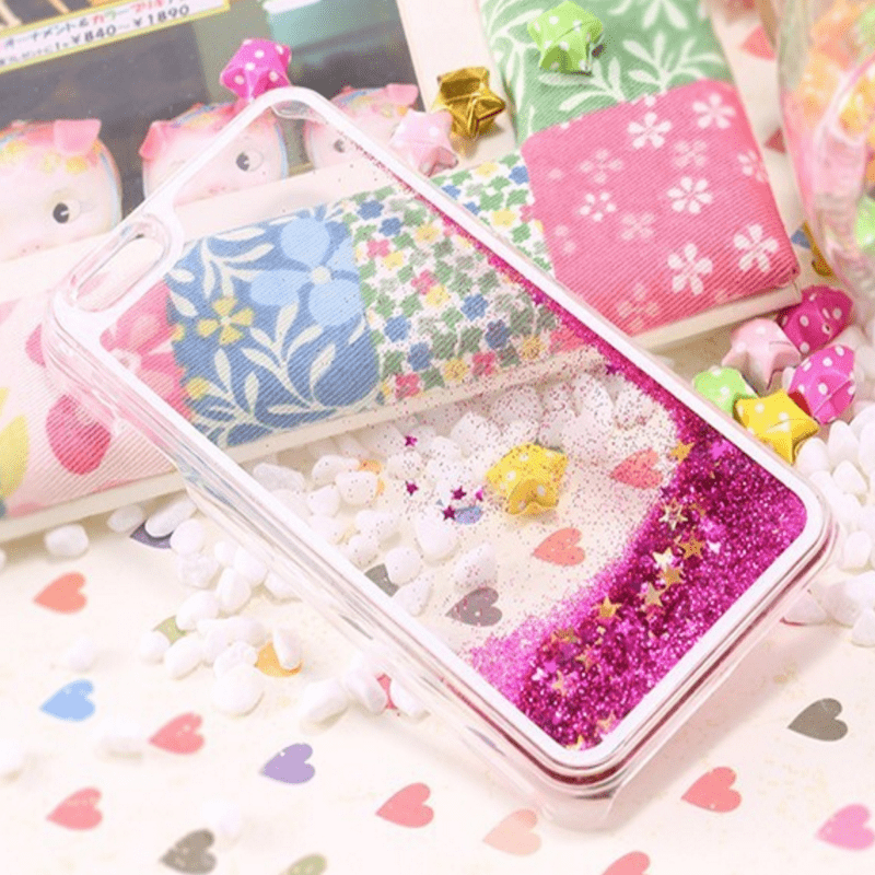 Dynamic Liquid Glitter Star Quicksand Case for iPhone 6 Accessories - Korean Fashion