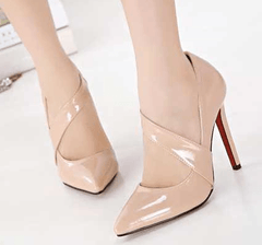 Korean Fashion - Shoes and Clothing - Stiletto Heels - Shoes - 39 / Beige - Gangnam Styles - 4