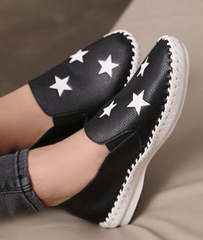 Star Slip-On Loafers Shoes - Korean Fashion
