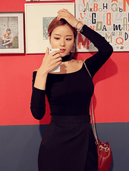 Korean Fashion - Shoes and Clothing - Choker Off Shoulder Top - Top Dress -  - Gangnam Styles - 11