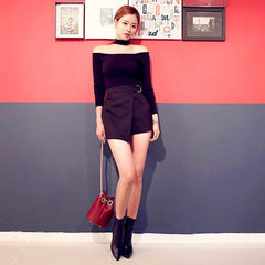 Korean Fashion - Shoes and Clothing - Choker Off Shoulder Top - Top Dress -  - Gangnam Styles - 7