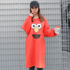 Elmo Plus Size Dress Dress - Korean Fashion
