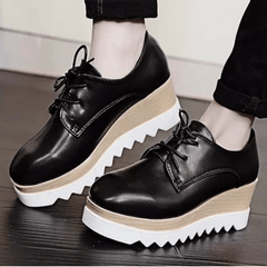 Korean Fashion - Shoes and Clothing - Autumn Lace-up Platform Shoes - Sneakers -  - Gangnam Styles - 1