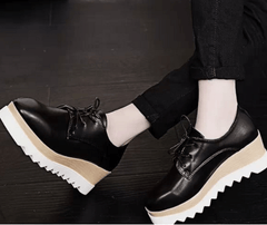 Korean Fashion - Shoes and Clothing - Autumn Lace-up Platform Shoes - Sneakers -  - Gangnam Styles - 4